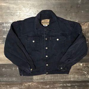 Vintage denim express cropped jacket